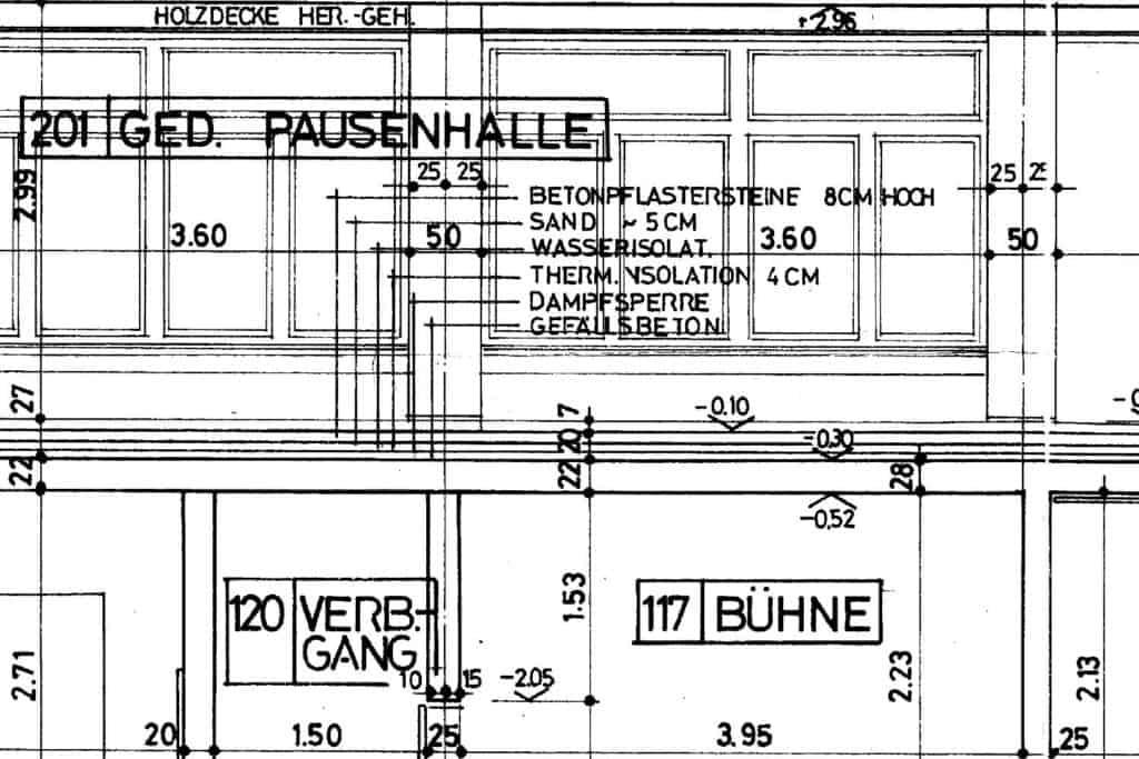 Architekturpläne Digitalisieren_Schnitt scannen